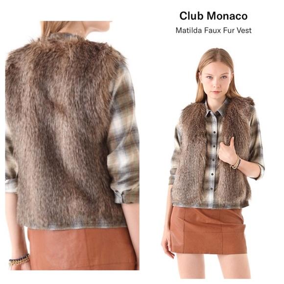 Club Monaco Jackets & Blazers - Club Monaco Matilda faux fur vest